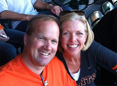Dr. Sullivan and Wife Julie Catching A Giants Game